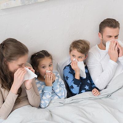 רצרצף של ימי חום ווירוסים מלאי נזלת?
